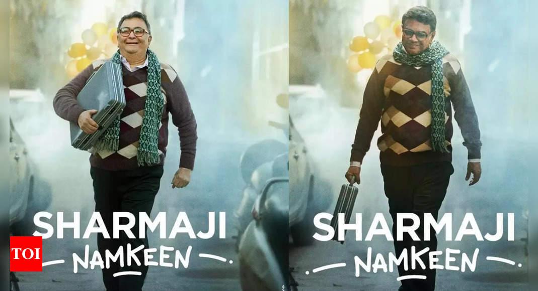 1st poster of Rishi Kapoor's Sharmaji Namkeen