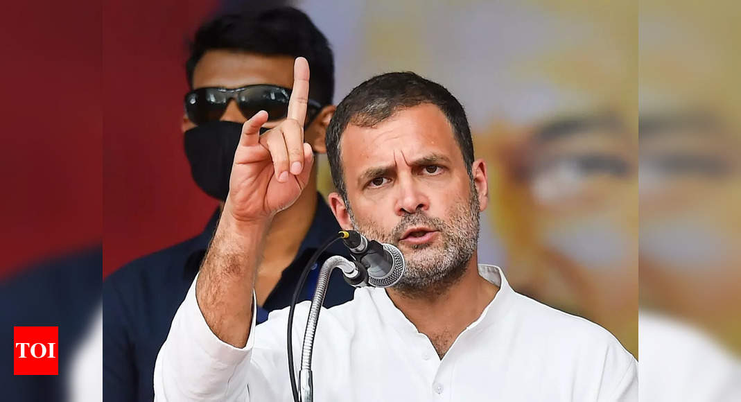 JEE (Main) Exam has been breached, Centre better at providing cover-ups: Rahul Gandhi | India News - Times of India thumbnail