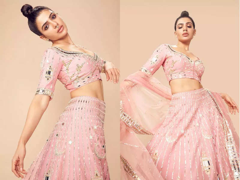 After going back to her maiden name, Samantha Ruth Prabhu sets a trend for brides: Septum ring + Lehenga