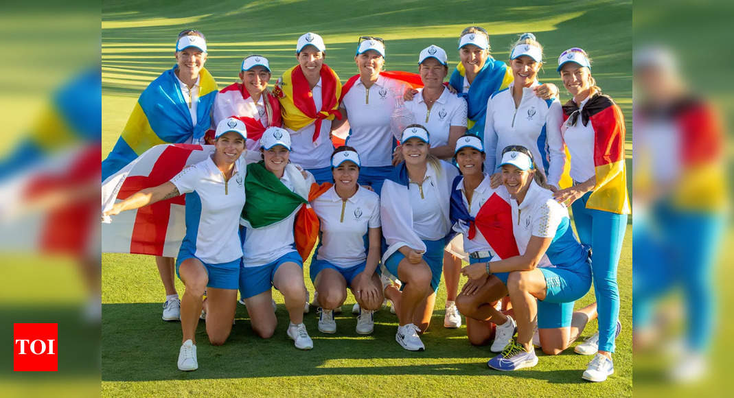 Team Europe beat USA 15-13 to retain Solheim Cup - Times of India