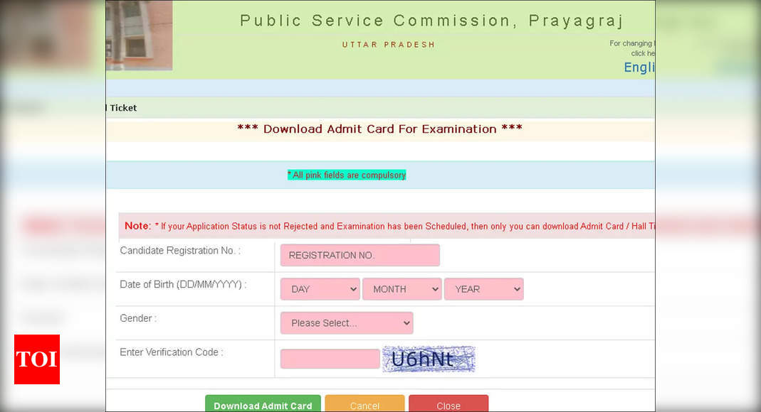 UPPSC GIC Lecturer Admit Card 2021 for prelim exam released; download here