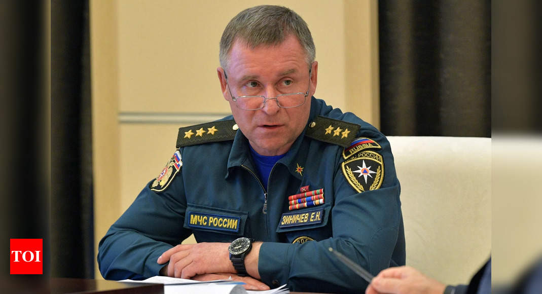 , Russia's emergencies minister dies during drills, The World Live Breaking News Coverage & Updates IN ENGLISH