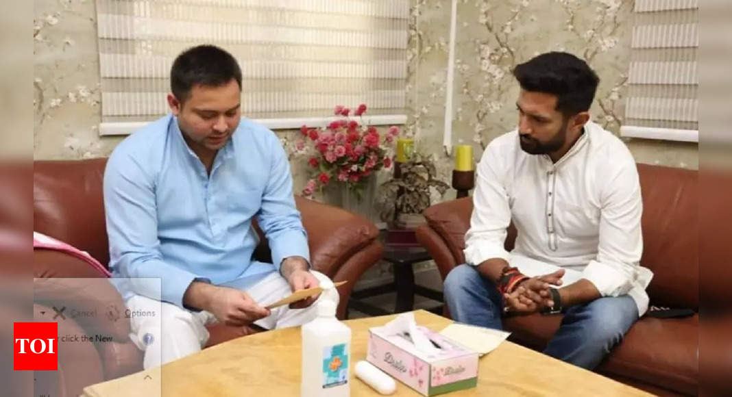 , Chirag Paswan meets Tejashwi Yadav in Patna, gives rise to conjecture over alignment, The World Live Breaking News Coverage & Updates IN ENGLISH