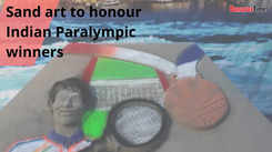 Sand art to honour Indian Paralympic winners