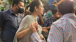 Nusrat Jahan makes her first public appearance post-delivery, shuts down questions on her baby's father