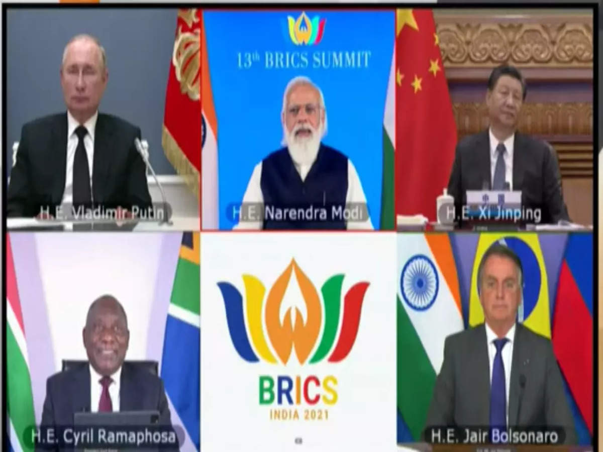 Brics Summit 2021: PM Narendra Modi chairs 13th Brics summit; leaders cover  Afghan crisis, pandemic in speech: Key points | India News - Times of India