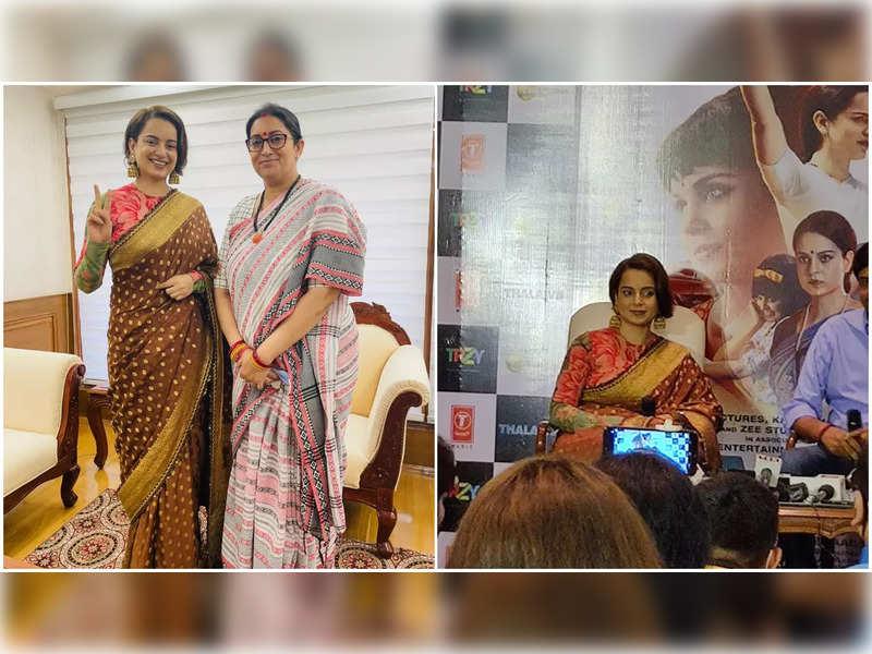 Kangana Ranaut holds 'Thalaivii' screening for parliamentarians in Delhi; Calls Smriti Irani the real life Thalaivii