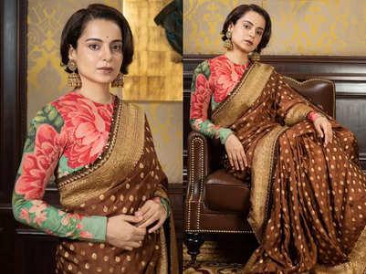 Kangana proves blouse and sari don't match