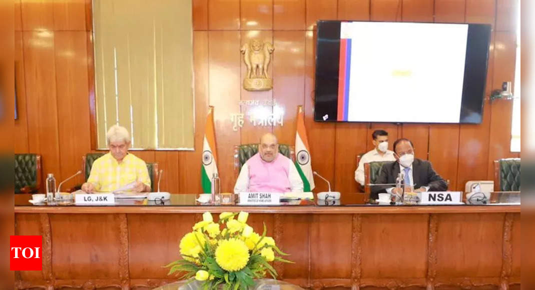 Shah reviews security situation, development projects in J&K