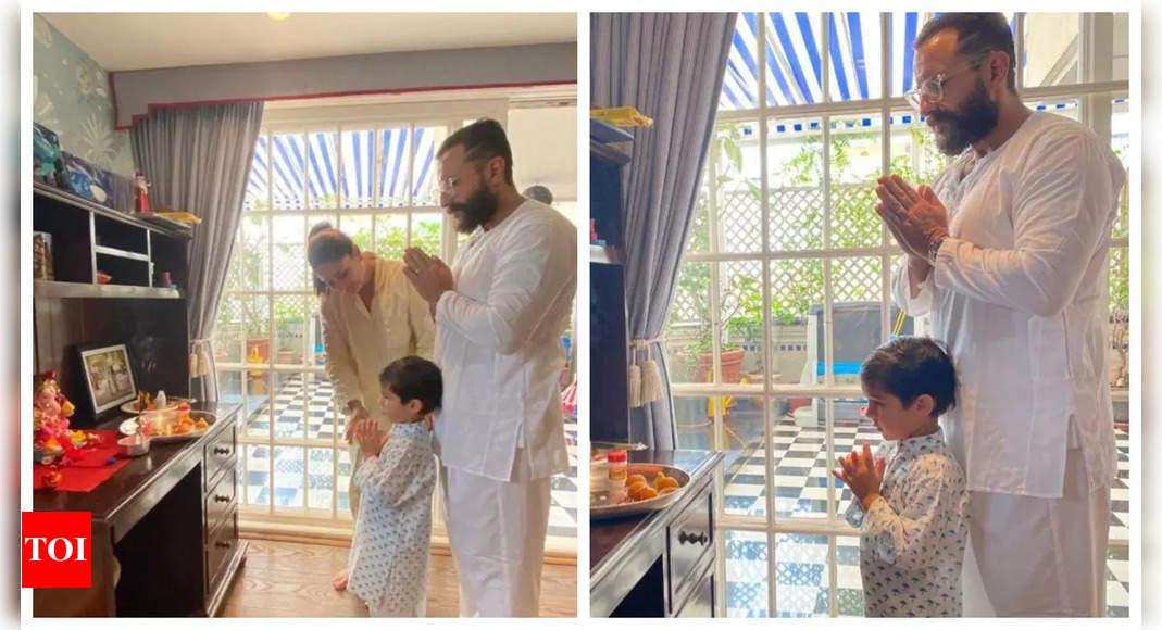 Taimur Ali Khan celebrates Ganesh Chaturthi