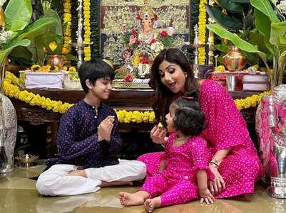 Shilpa shares family pic without Raj Kundra