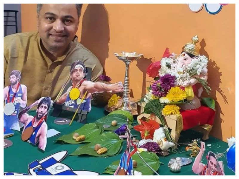 Subodh Bhave celebrates 'Ganesh Chaturthi' with the theme of the Tokyo Olympic