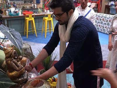 Raqesh Bapat makes Ganesha idol in BB house