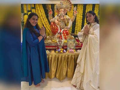 Sara posts pics from her Ganpati celebrations