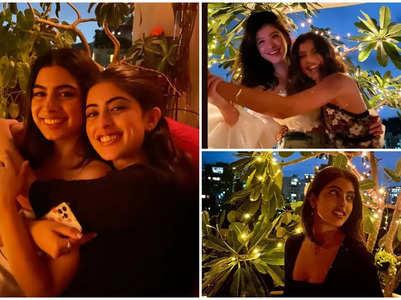 Khushi, Navya and Shanaya's fun girls' night