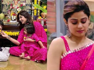 Shilpa and Shamita dress up in similar outfits