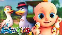 Check Out Popular Children English Nursery Song 'Goosey Goosey Gander' for Kids - Watch Fun Kids Nursery Rhymes And Baby Songs In English