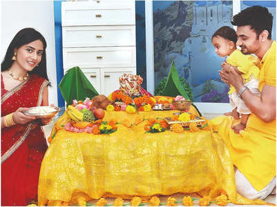 Amrita Rao on Veer's 1st Ganpati celebrations