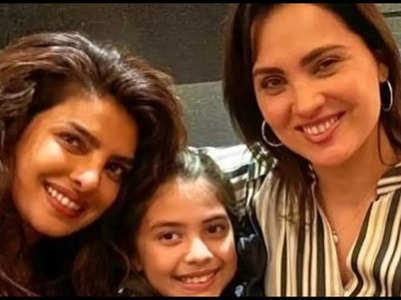 Priyanka Chopra meets Lara and her daughter