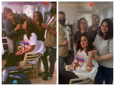 Bebo is back on the sets of Laal Singh Chaddha