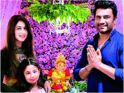 Sharad Kelkar on Ganpati celebration at home