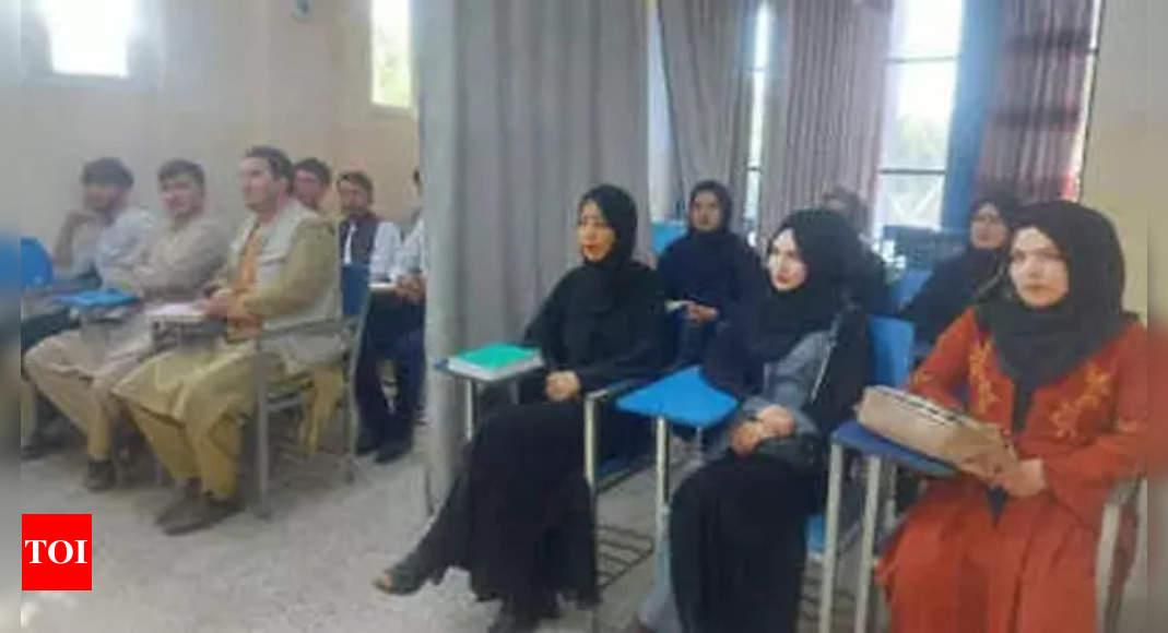 Afghan universities may resume classes in 1 week: Report – Times of India