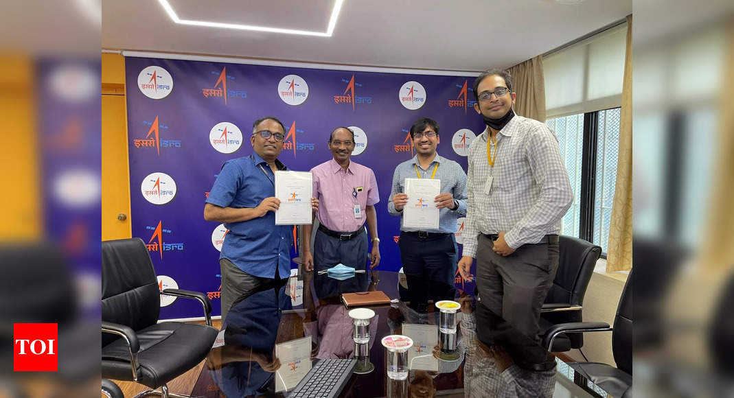 In a first, space dept signs pact with Hyderabad startup to provide access to Isro facilities | Hyderabad News – Times of India -India News Cart