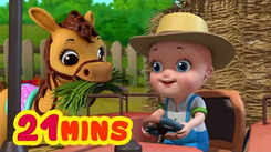 Nursery Rhymes in English: Children Video Song in English 'Johnny Playing With Farm Animals'