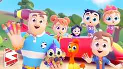 Nursery Rhymes in English: Children Video Song in English 'Finger Family Game'