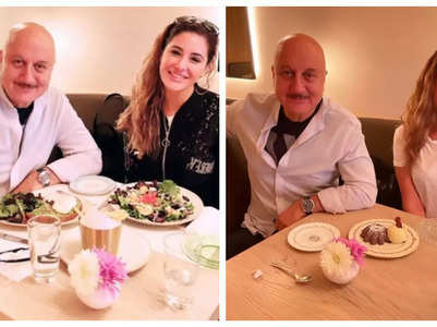 Nargis lunches with co-star Anupam Kher