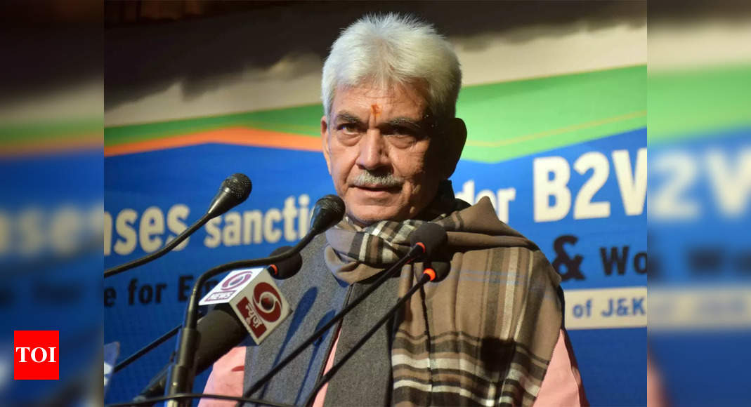 J&K administration making continuous efforts to create employment opportunities, says LG Manoj Sinha