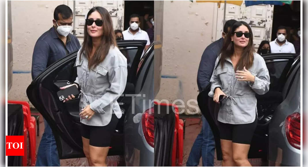Kareena opts for a chic and comfy look