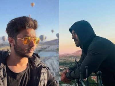 Nirvan enjoys hot air balloon trip in Turkey
