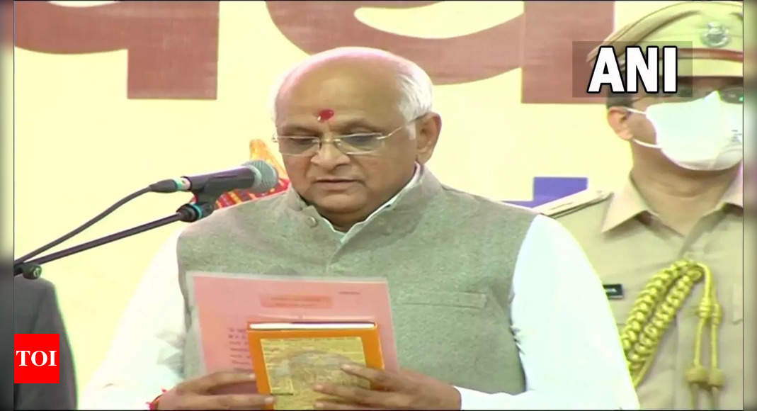 , First time MLA Patel sworn in as 17th Gujarat CM, The World Live Breaking News Coverage & Updates IN ENGLISH