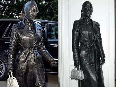 Kim Kardashian wears head-to-toe leather
