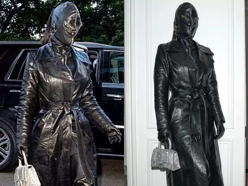 Ahead of Met Gala, Kim Kardashian covers herself in leather head-to-toe