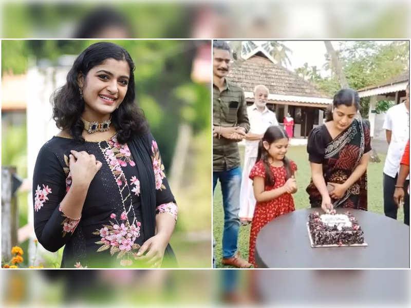 Shalu Kurian celebrates state award win on the sets of 'Ente Mathavu'
