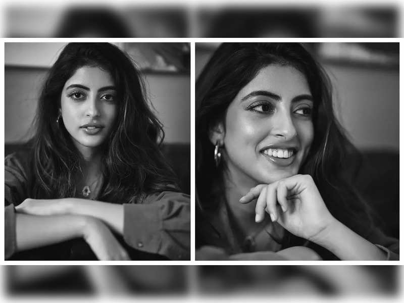 Navya Naveli Nanda casts a spell with her stunning monochrome pictures on Instagram, Ananya Panday comments 'obsessed with you'