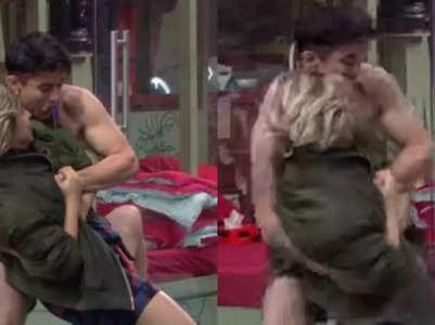 Neha tears Pratik's vest during a fun fight