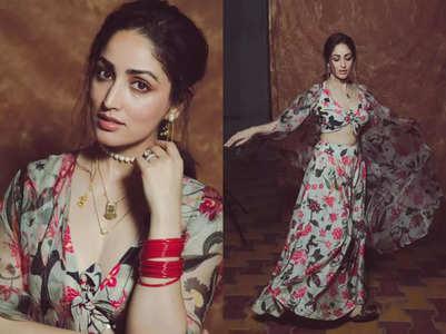 Yami Gautam's tie-up choli and skirt