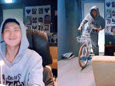 Jin gives the sweetest birthday gift to RM