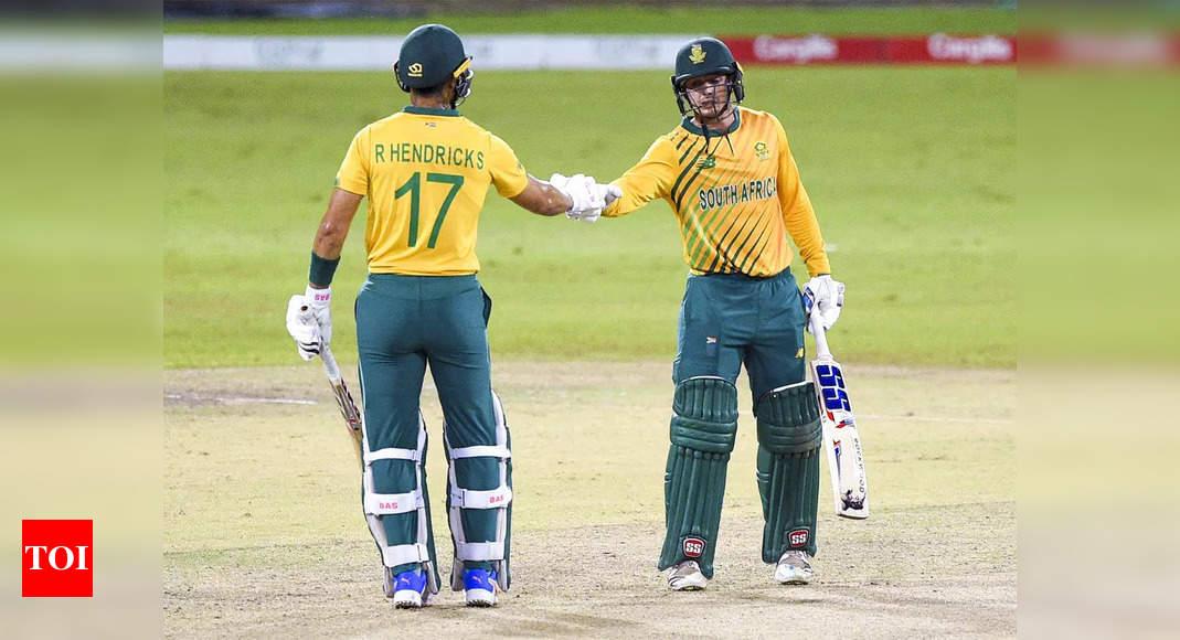South Africa demolish Sri Lanka to sweep T20I series 3-0 | Cricket News – Times of India