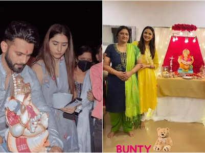 Rahul bids farewell to 'Bappa' with Disha