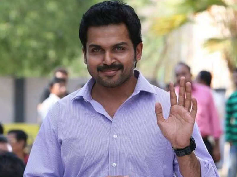 Karthi to finish a sequence for 'Sardar' shoot first before sporting a new look for 'Viruman'