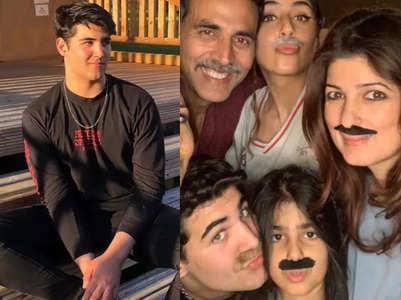 Viral pics of Akshay-Twinkle's son Aarav