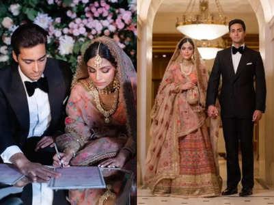 Pakistani bride wore a Sabyasachi lehenga