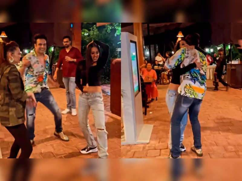 Krushna Abhishek, wife Kashmera Shah, Rochelle Rao dance on Mika's 'Saawan Mein Lag Gayi Aag'; Bharti Singh's reaction is not to be missed