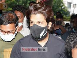 Allu Arjun returns to Hyderabad; visits Sai Dharam Tej