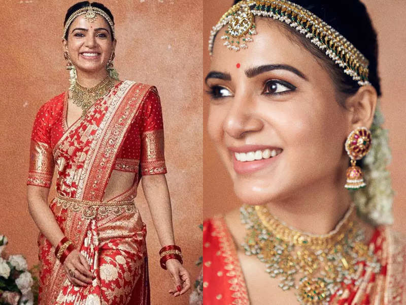 Samantha Ruth Prabhu looks graceful in Benarasi sari