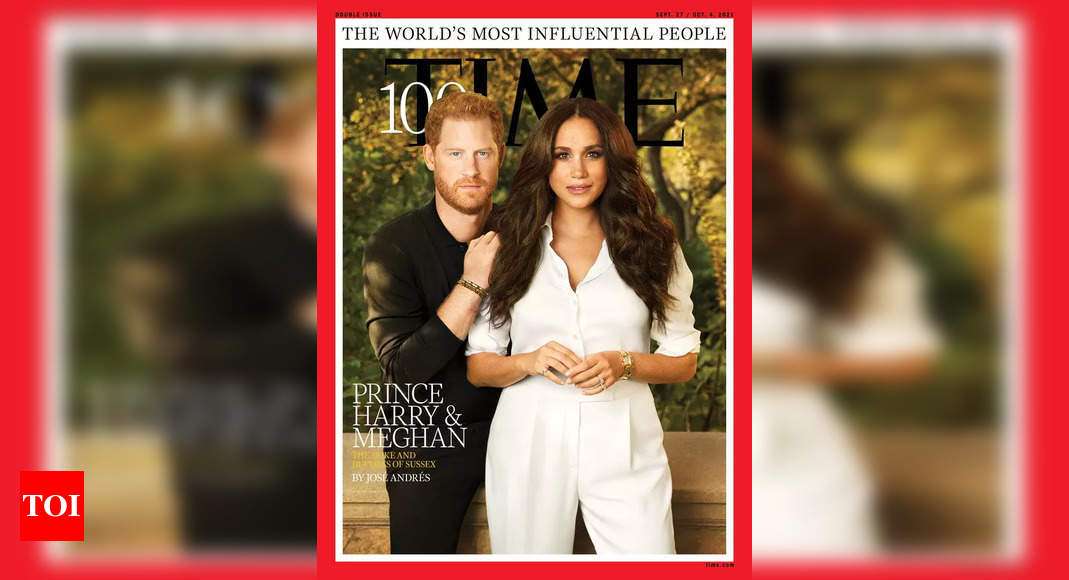 Meghan Markle, Prince Harry pose together for the first time for magazine cover